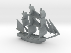 HMS Surprise ~1/1000 scale in Polished Metallic Plastic
