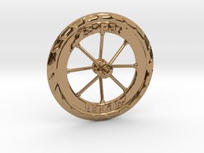Pocket highway wheel set in Polished Brass