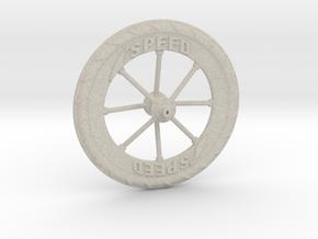 Pocket highway wheel set in Natural Sandstone
