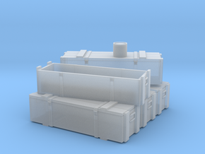 Proyectiles 105 Y Cajas-H0-proto-01 in Smooth Fine Detail Plastic