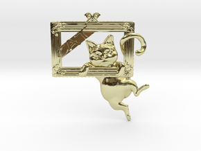 Mona Cat - Featured exclusive cat -Slight fat ver. in 18k Gold Plated Brass