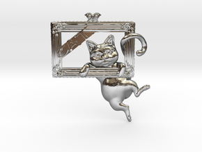 Mona Cat - Featured exclusive cat -Slight fat ver. in Fine Detail Polished Silver