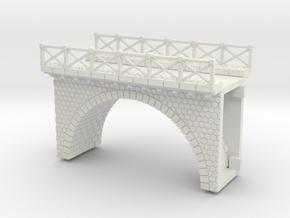NV3M1 Small modular viaduct 1 track in White Natural Versatile Plastic