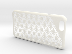 """iPhone6/6s Case """"Asanoha"""" in White Processed Versatile Plastic"""