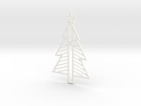 CHRIST-mas Tree Ornament in White Processed Versatile Plastic