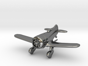 1:144 Gee Bee Model Z Racer Plane in Fine Detail Polished Silver