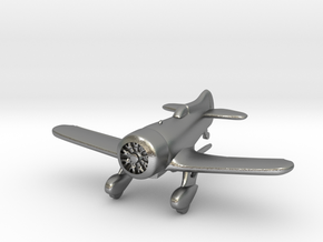 1:144 Gee Bee Model Z Racer Plane in Natural Silver