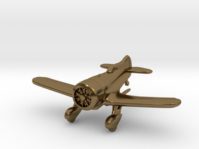 1:144 Gee Bee Model Z Racer Plane in Polished Bronze