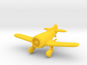 1:144 Gee Bee Model Z Racer Plane in Yellow Processed Versatile Plastic