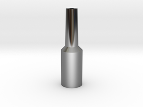 Tuba Mouthpiece Resistance Tool  in Fine Detail Polished Silver