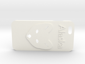 Alaskan Arctic Fox Phone case in White Strong & Flexible Polished