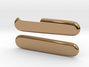 Victorinox 91mm smooth replacement scales  in Polished Brass