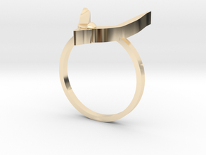Egyptian Hound Ring - Sz. 8 in 14K Yellow Gold