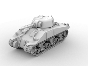 M4 Sherman(1:48 Scale) in White Processed Versatile Plastic