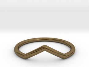 V ring (small) in Polished Bronze