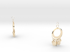 Aisha Earings in 14k Gold Plated Brass