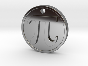 PI Pendant in Fine Detail Polished Silver