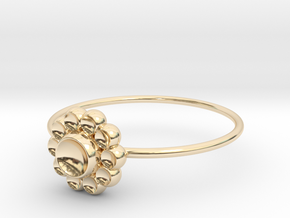 Size 10 Shapes Ring S4 in 14k Gold Plated Brass