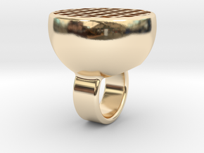 Maze-ring in 14K Yellow Gold