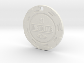 Vault 21 Chip Pendant in White Strong & Flexible