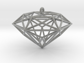 Diamond Ornament in Metallic Plastic