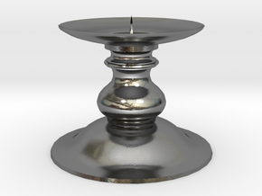Candle Holder 1 in Polished Silver
