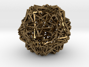 Cube 30 Compound -wireframe in Natural Bronze