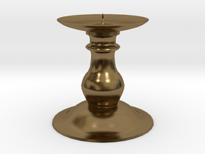 Candle Holder 2 in Polished Bronze
