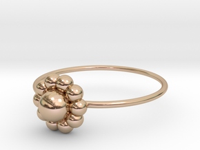 Size 8 Shapes Ring S3 in 14k Rose Gold Plated Brass