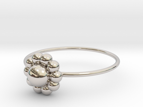 Size 10 Shapes Ring S3 in Rhodium Plated Brass