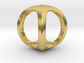 Two way letter pendant - OO O in Polished Brass