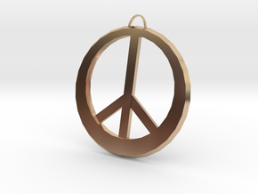Peace Sign in 14k Rose Gold Plated