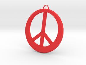 Peace Sign in Red Processed Versatile Plastic