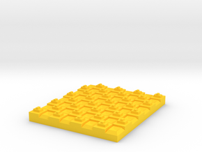 Checker in Yellow Processed Versatile Plastic