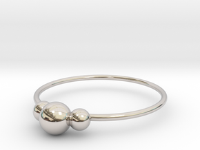 Size 9 Shapes Ring S2 in Rhodium Plated Brass