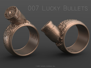 007 Lucky Bullets -Size 7.5 in Raw Brass