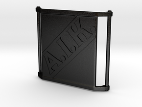 Charm Large - AIK in Matte Black Steel