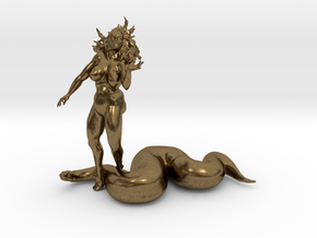 Eve And The Snake  in Natural Bronze