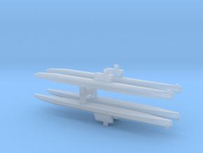 Romeo-Class/Type 033 Submarine x 4, 1/2400 in Smooth Fine Detail Plastic