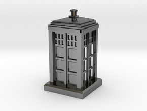 N Gauge - Police Box  in Fine Detail Polished Silver