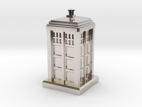 N Gauge - Police Box  in Platinum