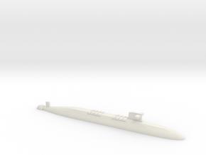FS Le Triomphant SSBN, 1/2400 in White Natural Versatile Plastic