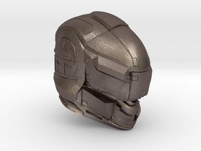 Halo 5 Gungnir 1/6 scale helmet in Polished Bronzed Silver Steel