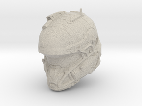Halo 5 Tanaka/Technician 1/6 scale Helmet in Natural Sandstone