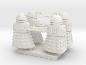 Daleck02 (4) HO 87:1 Scale in White Natural Versatile Plastic