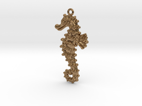 Sea Horse in Natural Brass