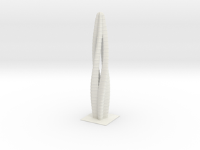 Anki & Guild Cityscape - The Spiral in White Natural Versatile Plastic