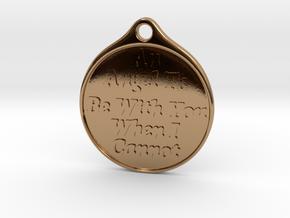 Angel-keychain in Polished Brass