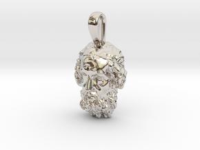 Portrait of the Blind Homer, pendant in Platinum