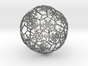 iFTBL Xmas Snow Ball / The One - Ornament 60mm in Polished Silver